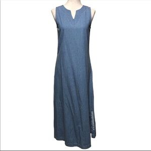 Vintage Denim Maxi Dress Newport News